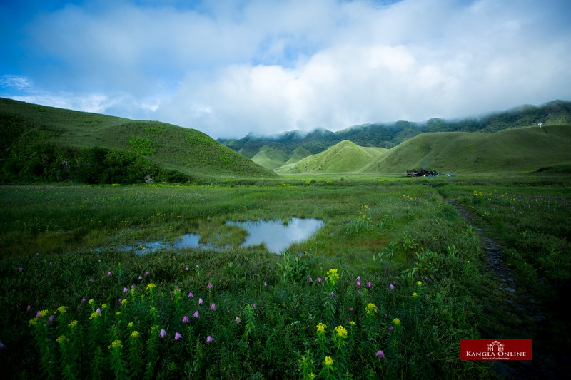 Scenic view of Dzuko valley at